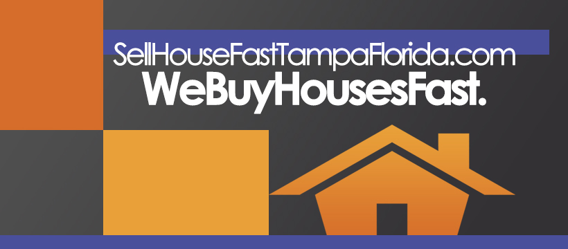 Image of our vinyl banner that has our company slogan, We buy houses very fast - even if they are ugly.